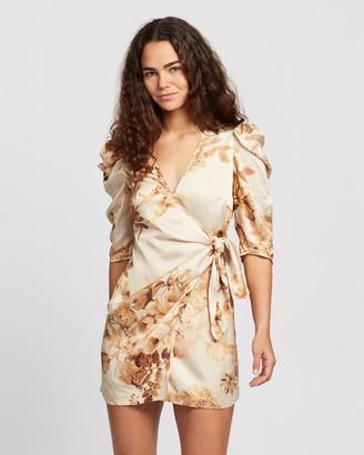 Shona Joy Ines Draped Sleeve Mini Dress