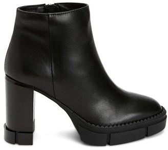 Aquatalia Iola Lug-Sule Leather Ankle Boots