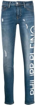 Philipp Plein contrast logo jeans