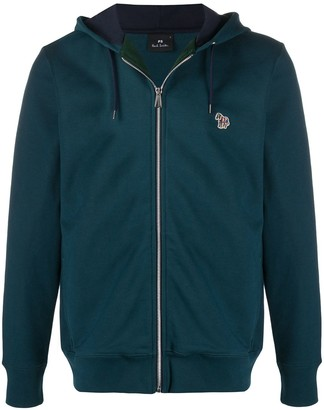 Paul Smith Logo-Patch Zipped Hoodie