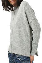 Topshop PETITE Zip Side Sweater