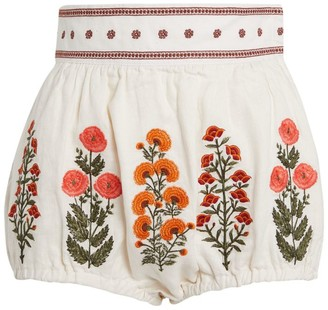 Agua Bendita Linen Lulo Shorts