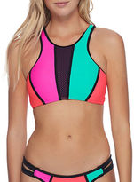Body Glove Borderline Colorblock Crop Top Bikini