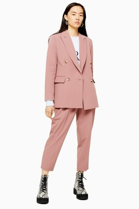 Topshop Womens Dusty Pink Peg Suit Trousers - Dusty Pink
