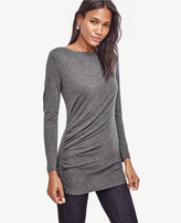 Ann Taylor Side Draped Boatneck Top