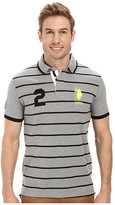 U.S. Polo Assn. Slim Fit Stripe and Solid Pique Polo