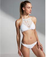 Express crochet front halter bikini swim top
