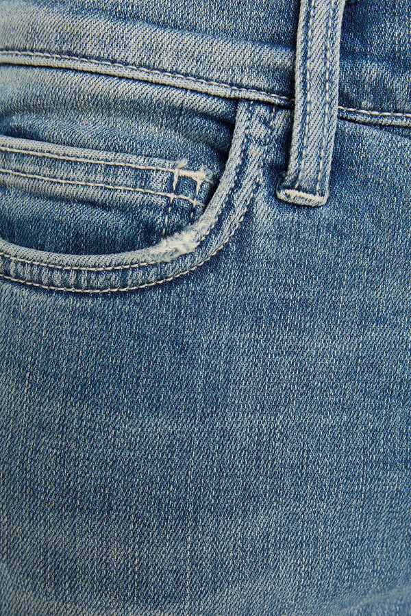 Thumbnail for your product : Current/Elliott The Stiletto Cropped Mid-rise Skinny Jeans