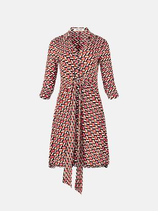 Diane von Furstenberg Yara Tissue-Jersey Belted Dress