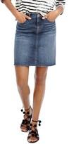 J.Crew Women's Raw Hem Denim Miniskirt