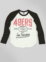 Junk Food Clothing Kids Boys Nfl San Francisco 49ers Raglan-sugar/black Wash-l