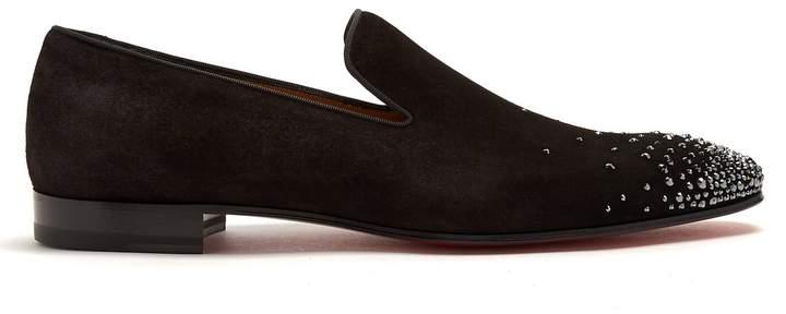 Christian Louboutin Dandelion jewel-embellished suede loafers