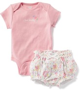 Old Navy Graphic Bodysuit & Printed Bloomer Set for Baby