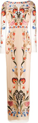 Temperley London Toledo floral-embroidered gown