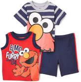 Children's Apparel Network Sesame Street Elmo Red & Black Stripe Outfit - Infant