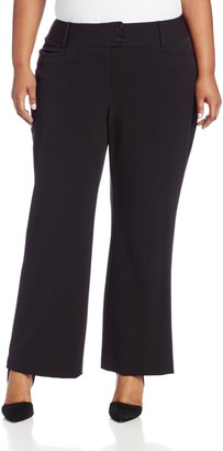 Rafaella Women's Plus-Size Curvy Fit Short Length Gaberdine Trouser