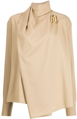 Bottega Veneta Asymmetrical Draped Blouse