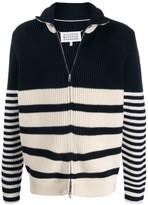 Maison Margiela striped zip jumper