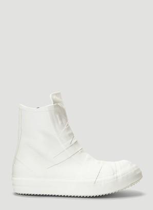 Rick Owens Zip-Up High-Top Sneakers