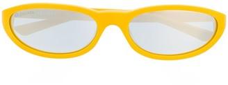 Balenciaga Eyewear Narrow Oval-Frame Sunglasses
