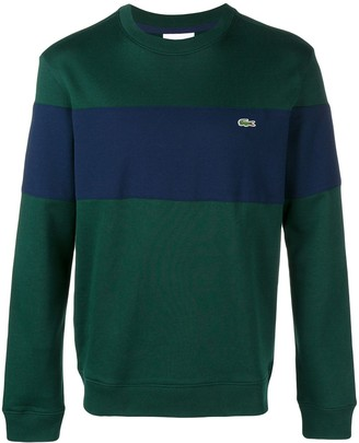 Lacoste striped crew neck sweater