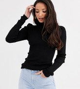 Y.A.S Tall Sibirella ruched shoulder roll neck sweater