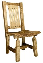 Abella Solid Wood Slat Back Side Chair Loon Peak Finish: Exterior Stain