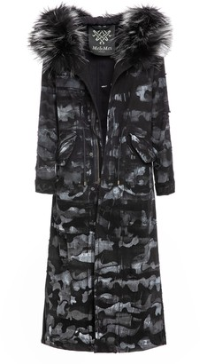 Mr & Mrs Italy Camouflage Denim Long Jazzy Parka