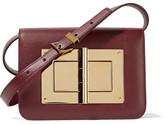 Tom Ford Natalia Small Leather Shoulder Bag - Burgundy