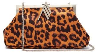 ATTICO Alma Crystal-embellished Leopard-print Bag - Leopard