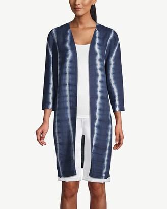 Chico's Indigo Tie-Dye Kimono Jacket