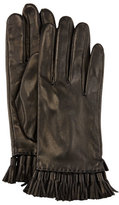 Rebecca Minkoff Leather Mini Tassel Gloves, Black