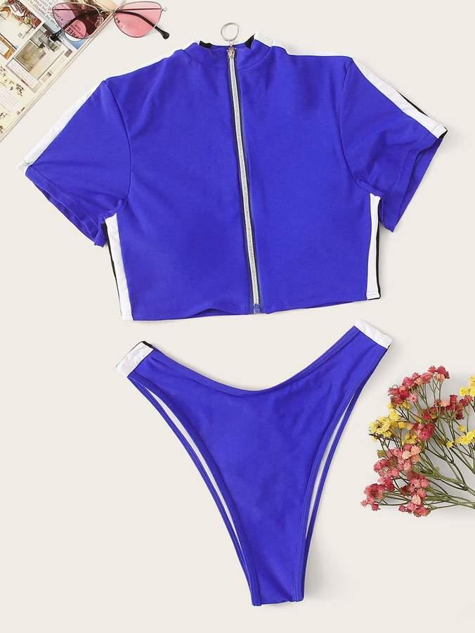 32b44abee02 Zipper Bathing Suit - ShopStyle