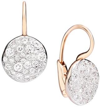 Pomellato Sabbia Diamond & 18K Rose Gold Drop Earrings