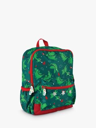 Frugi Children's Dragon Adventure Backpack, Green