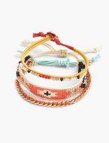 Lucky Brand Orange Beaded Bracelets