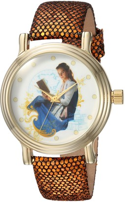 Disney Women's Beauty Analog-Quartz Watch with Leather-Synthetic Strap