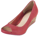Cole Haan Air Tali Peep-Toe Wedge, Cherry Tomato