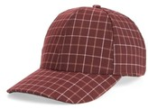 BP Women's Windowpane Baseball Cap - Red