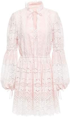 Jonathan Simkhai Gathered Broderie Anglaise Cotton Mini Dress