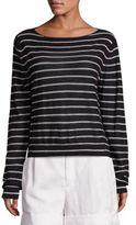 Vince Striped Cashmere Boatneck Sweater