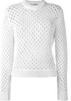 Carven lace detail top - women - Cotton/Nylon - S