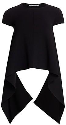 Stella McCartney Compact Knit High-Low Shirt