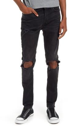Topman Blowout Ripped Skinny Jeans