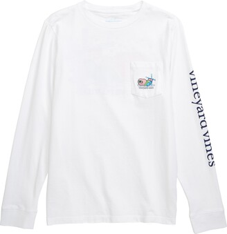 Vineyard Vines Apres Ski Bro Whale Long Sleeve Pocket T-Shirt