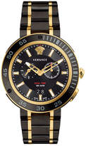 Versace V-Extreme Pro Multifunction Dual Time Watch with Bracelet, Black