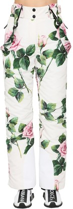 Dolce & Gabbana Printed Nylon Padded Ski Pants
