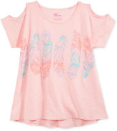 Epic Threads Cold-Shoulder Feathers Top, Big Girls (7-16), Only at Macy's