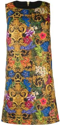 Versace Floral-Print Shift Dress