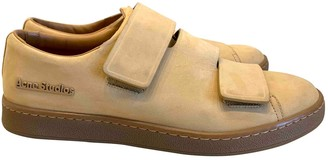 Acne Studios Beige Leather Trainers